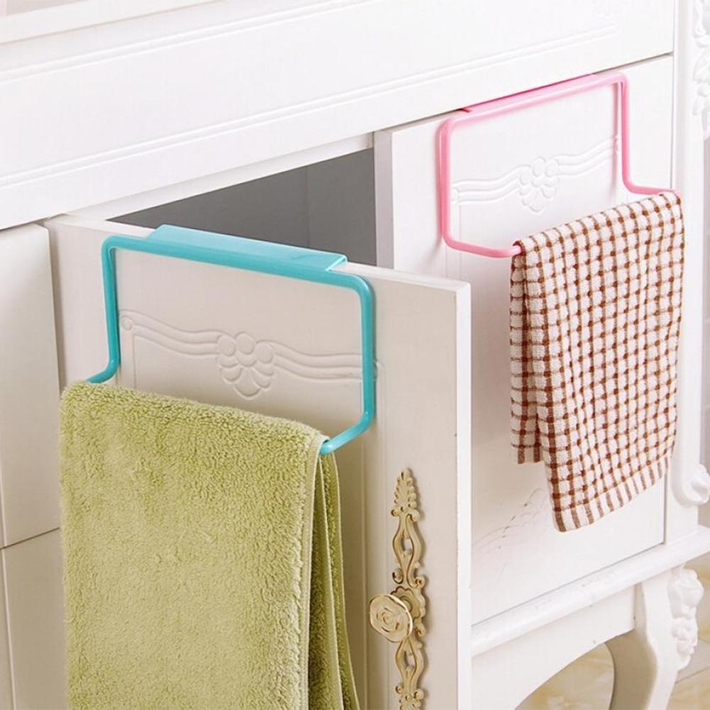 Metal Over Door Tea Towel Rack Bar Hanging Holder Rail