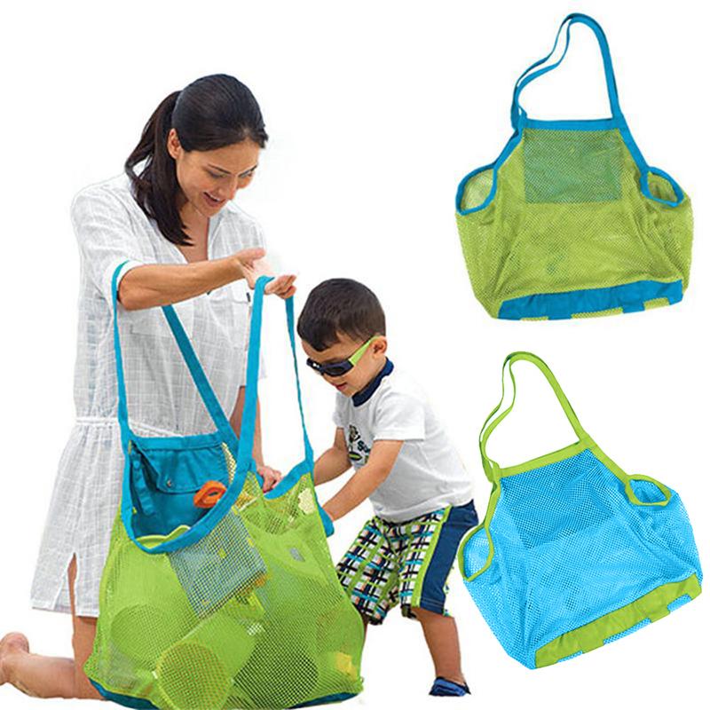 Home Storage & Organization Supply Portable Children Mesh Beach Bag Folding Kids Sand Toys Beach Ball Storage Bag Sand Away Clothes Toy Bag Organizer Home & Garden