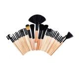 32pcs Professional Cosmetic Soft Eyebrow Shadow Eyeliner Lip Powder Foundation Fan Tool Makeup Brushes Set Kit