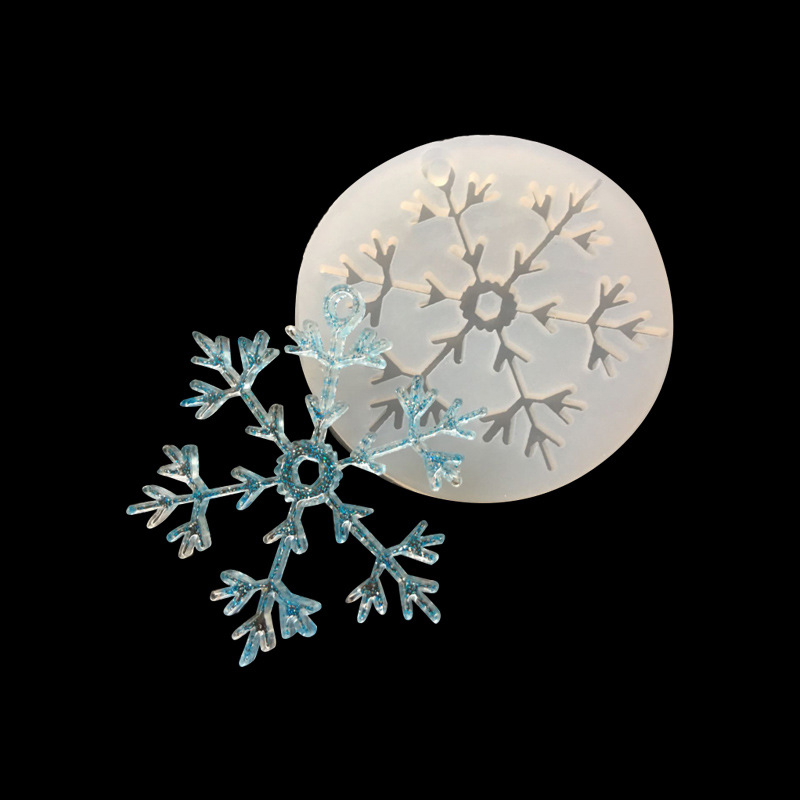 Silicon Resin Casting Snowflake Mold Jewelry Mould DIY Craft Making