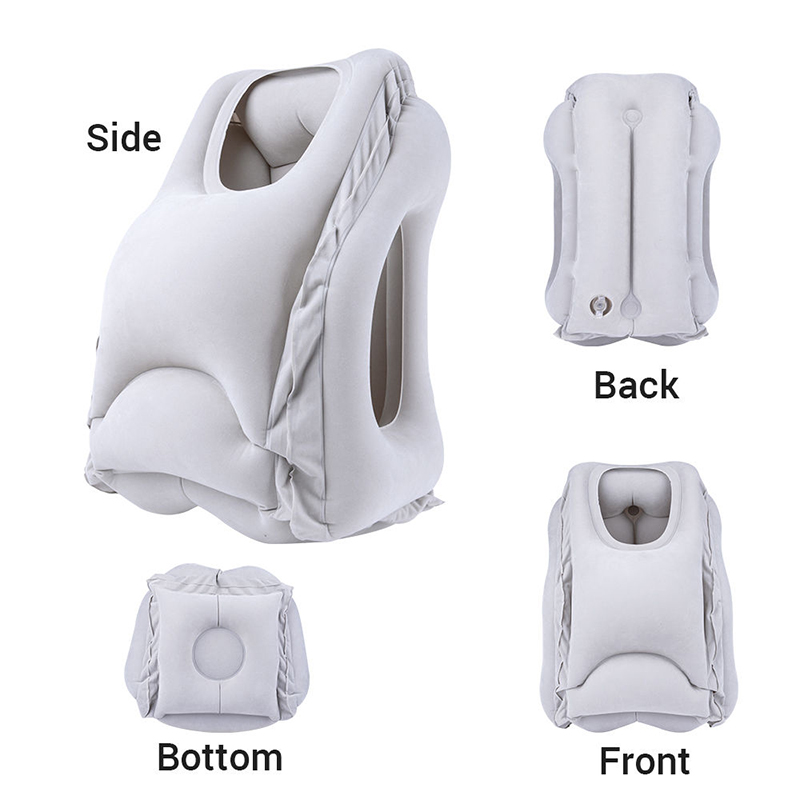 Multifunction Inflatable Air Travel Pillow Airplane Office Desk Nap Pillow