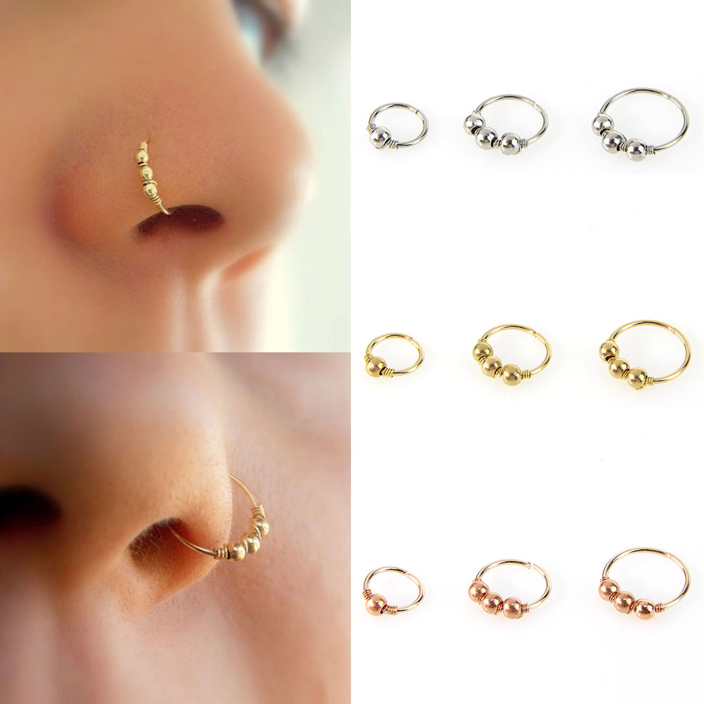 nostril piercing jewelry 1 pc gold silver nose ring stud nose hoop