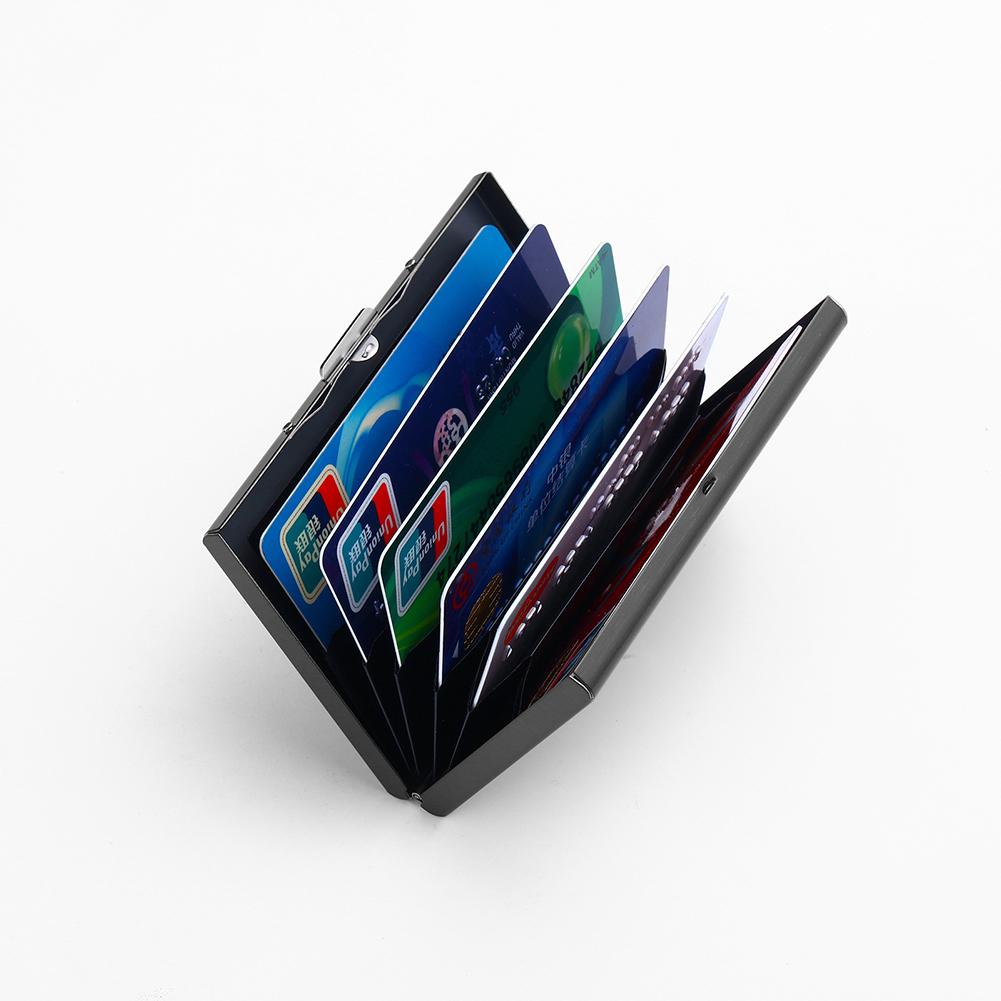 waterproof business id credit card wallet holder aluminum metal pocket case box. Black Bedroom Furniture Sets. Home Design Ideas