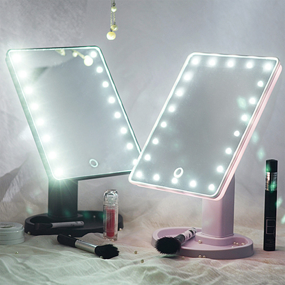 22 led touch screen makeup mirror tabletop cosmetic vanity for Beauty mirror