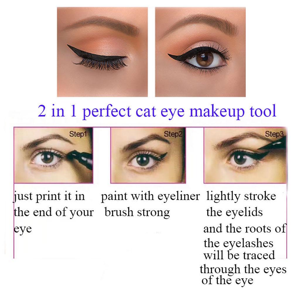 35ml Women Winged Black Liquid Eyeliner Seal Stamp Waterproof