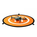 Portable Parking Apron RC Drone Quadcopter Fast-fold Landing Pad Tarmac Parking for DJI Mavic Pro / Phantom 3 / 4 (Orange + Blue)