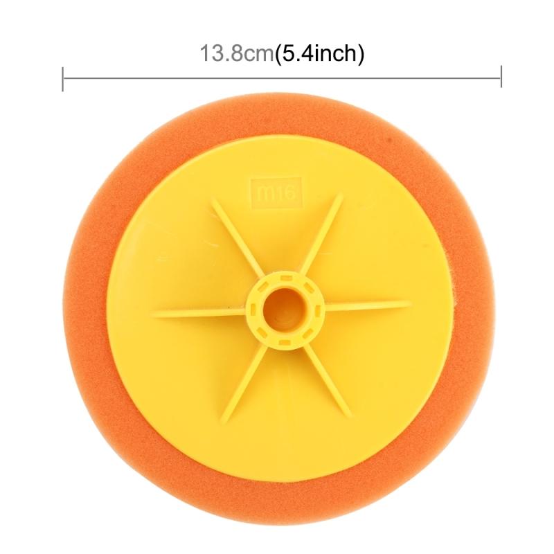 Polishing Disc Car Polishing Machine Dedicated Sponge Wheel Wax Polishing Sponge Decontamination Sponge, Screw Hole Diameter:16mm