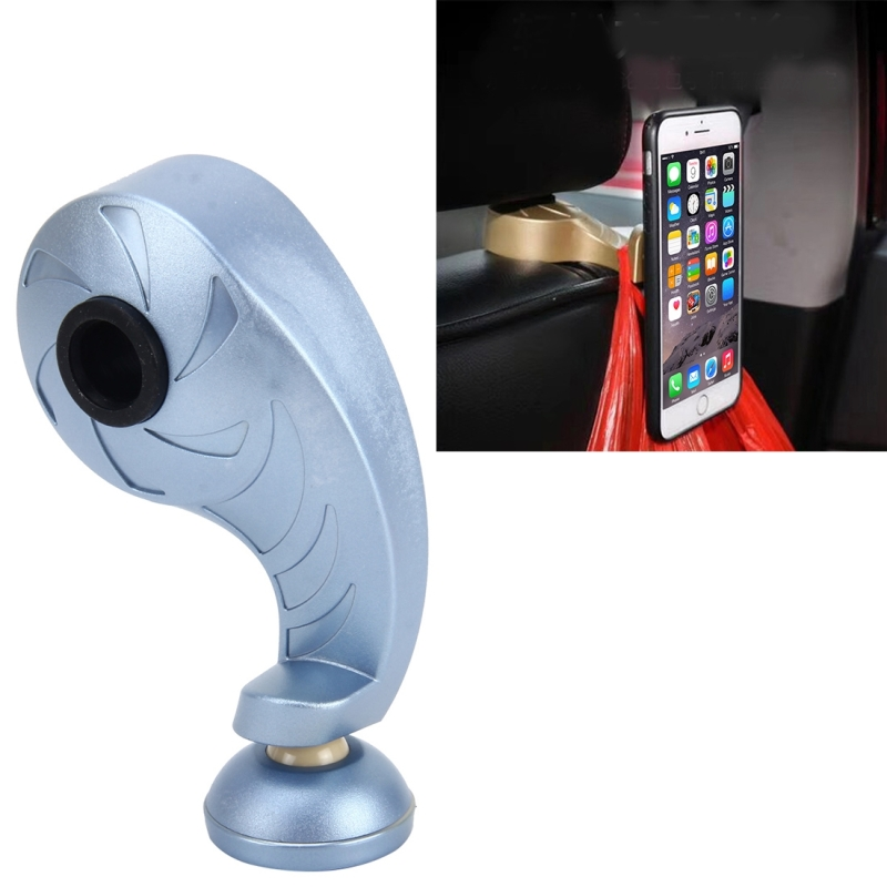 Holder and Mobile Phone Magnetic Stent 2 in 1 Universal Car Vehicle Back Seat Headrest Hanger Holder Hook Car Seat Back Hooks Vehicular Hook (Blue)