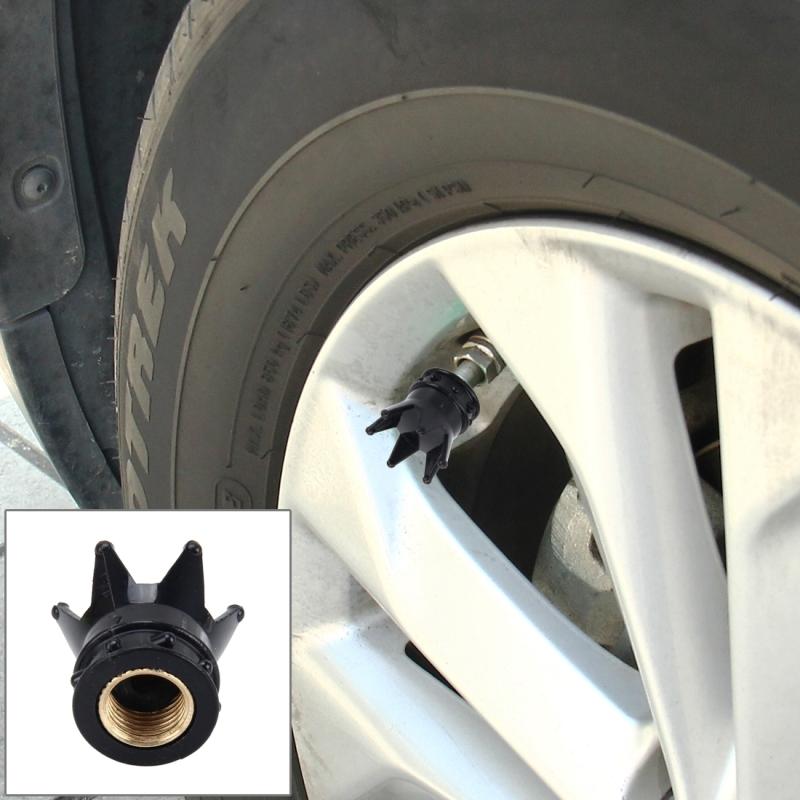4 PCS Universal Gas Cap Mouthpiece Cover Gas Cap Tire Cap Car Motor Bicycle Tire Valve Caps