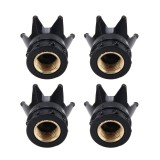 4 PCS Universal Gas Cap Mouthpiece Cover Gas Cap Tire Cap Car Motor Bicycle Tire Valve Caps