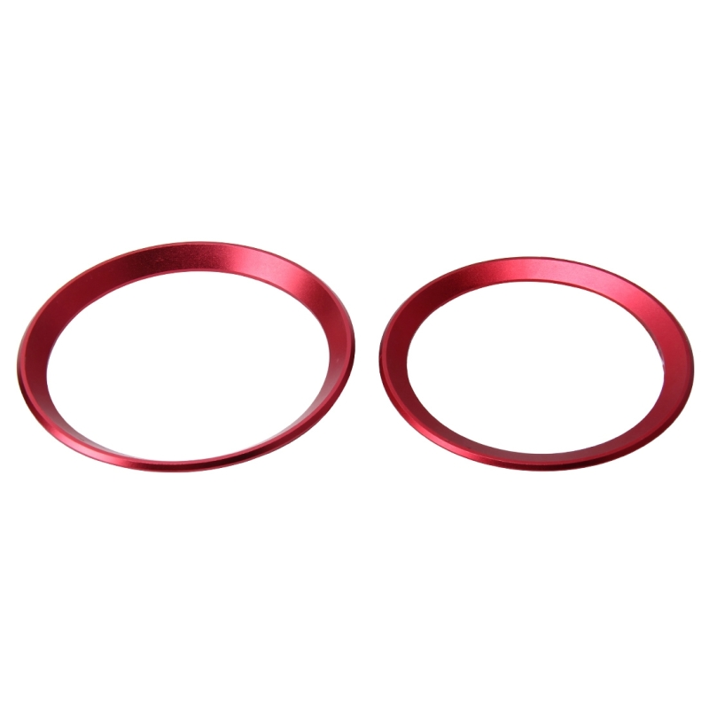 2 PCS / Set Zinc Alloy Steering Wheel Decoration Ring Sticker Logo Car Styling Modification Car Front Logo Ring Decoration Rear Cover Trim Hood Emblem Rings for BMW 3 Series (Red)