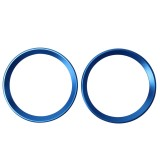 2 PCS Car Logo Decorative Circle Steering Wheel Decoration Ring Sticker Logo Car Styling Modification Car Front Logo Ring Decoration Rear Cover Trim Hood Emblem Rings for BMW 5 Series (Blue)
