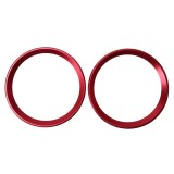 2 PCS Car Logo Decorative Circle Steering Wheel Decoration Ring Sticker Logo Car Styling Modification Car Front Logo Ring Decoration Rear Cover Trim Hood Emblem Rings for BMW 5 Series (Red)