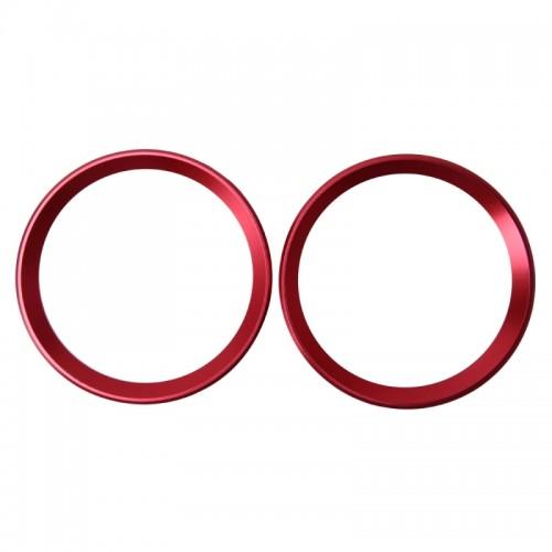 2 PCS Car Logo Decorative Circle Steering Wheel Decoration Ring Sticker Logo Car Styling Modification Car Front Logo Ring Decoration Rear Cover Trim Hood Emblem Rings for BMW 5 Series (Red)