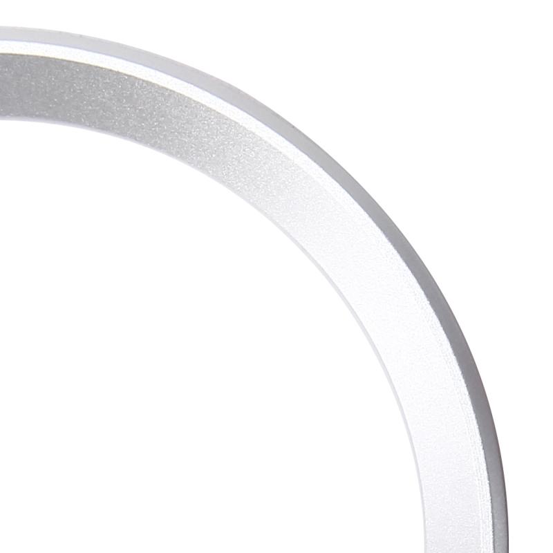 2 PCS Car Logo Decorative Circle Steering Wheel Decoration Ring Sticker Logo Car Styling Modification Car Front Logo Ring Decoration Rear Cover Trim Hood Emblem Rings for BMW 5 Series (Silver)