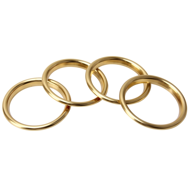 4 PCS Car Outlet Decorative Rings Aluminum Alloy Air Outlet Chrome Trim Ring Car Dashboard Air Vents Cover Sticker Decoration for Audi A3 (Gold)
