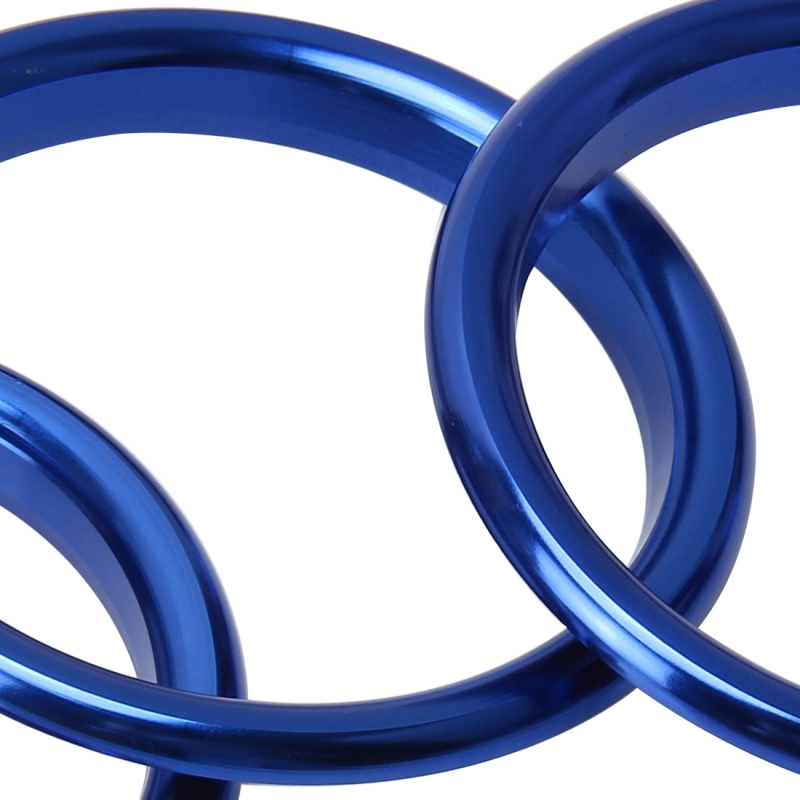 4 PCS Car Outlet Decorative Rings Aluminum Alloy Air Outlet Chrome Trim Ring Car Dashboard Air Vents Cover Sticker Decoration for Audi A3 (Blue)