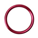 4 PCS Car Outlet Decorative Rings Aluminum Alloy Air Outlet Chrome Trim Ring Car Dashboard Air Vents Cover Sticker Decoration for Audi A3 (Magenta)