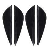 2 Pair Car Styling Body Head Side Light Lamp Frame Stick Cover Trim Car Styling Side Light Decoration Trim Cover Auto Accessories (Black)