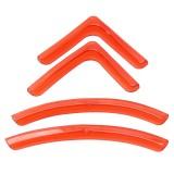 4 PCS / Set Universal Car Styling PVC Car Door Edge Anti Collision Sticker Door Anti-Rub Strips Car Door Scratch Protector (Orange)