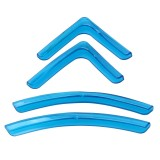 4 PCS / Set Universal Car Styling PVC Car Door Edge Anti Collision Sticker Door Anti-Rub Strips Car Door Scratch Protector (Blue)