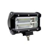 5 inch Two Rows Led Light Bar Modified Off-road Lights Roof Light Bar IP67 Waterproof 72W Condenser 6000K 10800LM LED Spotlight Light Searchlight Car LED Work Lights, DC 10-48V (White Light)