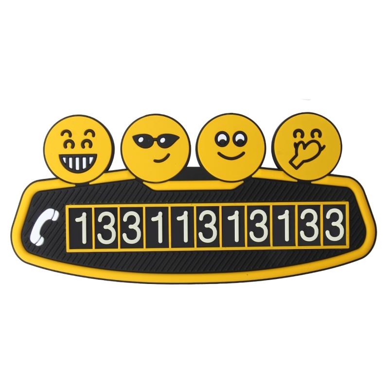 Cartoon Smiling Face Parking Card Temporary Car Parking Card Parking Tag