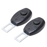 2 PCS RS-02 Universal Car Seat Belt Extension Buckle Car Safety Belt Clip Vehicle Mounted Car Safety Seat Belt Buckle Clip (Black)