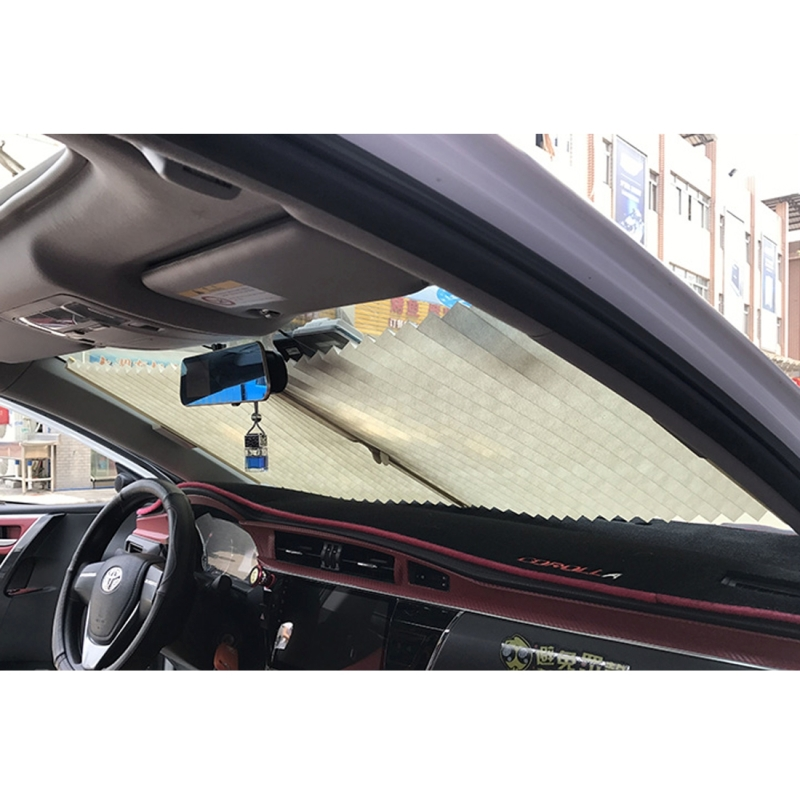 Auto Sun Shade Auto Sun Visor Car Sun Shade Car Window Suction Cup Car Curtain Car Styling Covers Sunshade (Black)