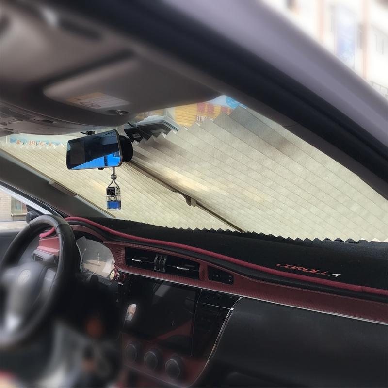 Auto Sun Shade Auto Sun Visor Car Sun Shade Car Window Suction Cup Car Curtain Car Styling Covers Sunshade (Grey)