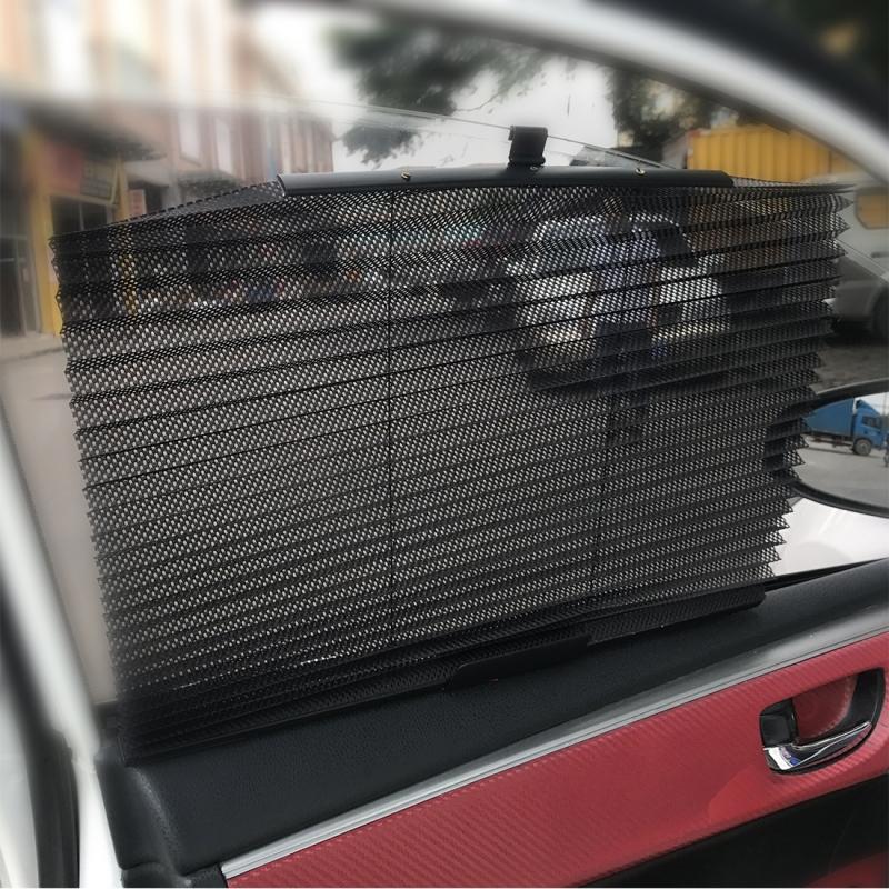 Auto Sun Shade Auto Sun Visor Car Sun Shade Car Window Suction Cup Car Curtain Car Styling Covers Sunshade (Beige)