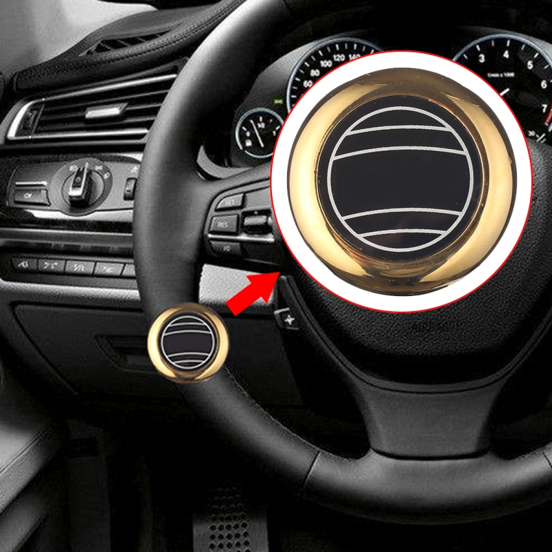 Car Auto Universal Alloy Steering Wheel Spinner Knob Auxiliary Booster Aid Control Handle Car Steering Wheel Booster Wheel Strengthener Auto Spinner Knob Ball