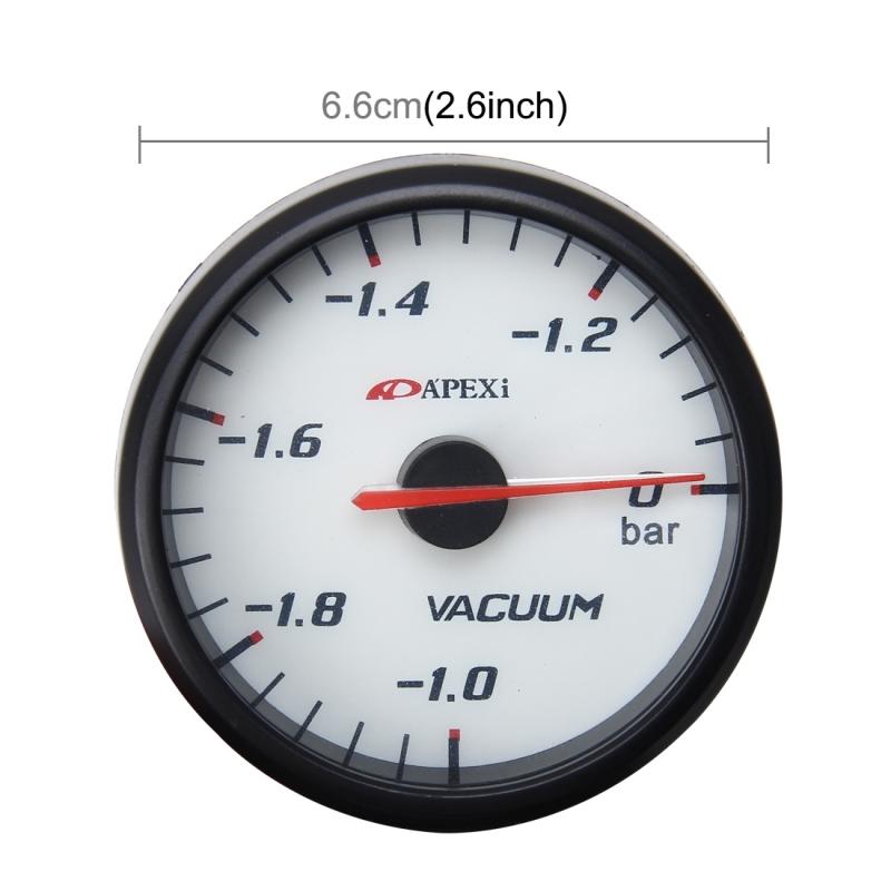 Universal 2.5 inch 60mm Vacuum Boost Temp Gauge Car Auto Gauge Meter Car Instruments Boost Gauge Meter Auto Gauge