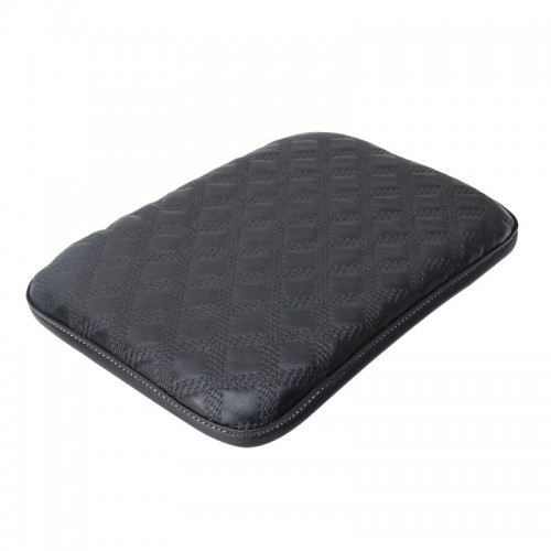 Universal Comfortable Automotive Armrest Mats Car Armrests Cover Vehicle Center Console Arm Rest Seat Box Soft Mats Cushion (Black)
