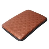 Universal Comfortable Automotive Armrest Mats Car Armrests Cover Vehicle Center Console Arm Rest Seat Box Soft Mats Cushion (Brown)