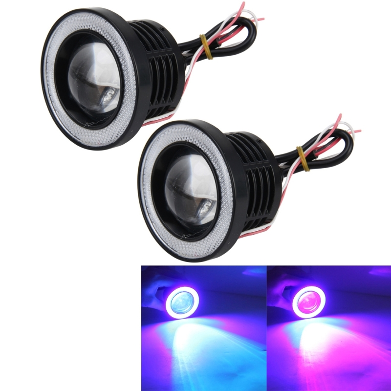 2 PCS Universal 3Inch LED Fog Angel Eyes R500 High Intensity LED Lamps Car Fog Light Halo Angel Eyes Rings Fog Lamp IP65 Waterproof 900LM 10W 6000K Car Fog Lights with Remote Control, DC 12V