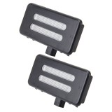 2 PCS White Light Car LED Vanity Mirror Lamp Lights with 18 SMD-3528 Lamps for BMW E60 /  E60N /  E61 /  E61N /  E90 /  E90N /  E91 /  E91N /  E92 /  E92N /  E70 /  E71 /  E84 /  F25 /  X3