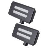 2 PCS White Light Car LED Vanity Mirror Lamp Lights with 18 SMD-3528 Lamps for BMW E60 /  E60N /  E61 /  E61N /  E90 /  E90N /  E91 /  E91N /  E92 /  E92N /  E70 /  E71 /  E84 /  F25 /  X3