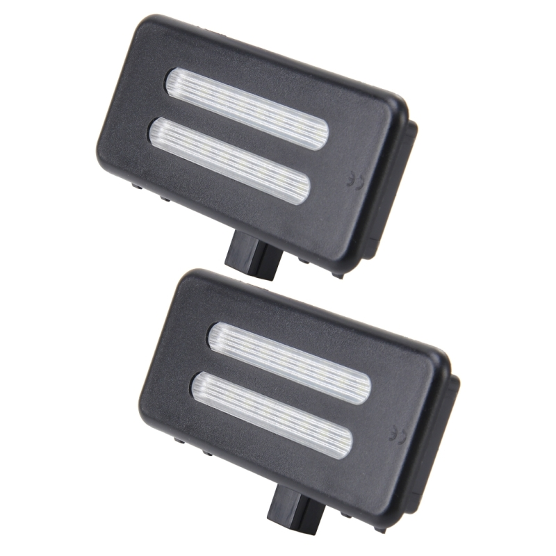 2 PCS White Light Car LED Vanity Mirror Lamp Lights with 18 SMD-3528 Lamps for BMW E60 / E60N ...