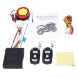 Motorcycle Safty Warning Alarm System with Two Remote Controls, DC 12V