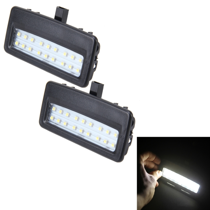 Vanity Lamp Car : 2 PCS White Light Car LED Vanity Mirror Lamp Lights with 18 SMD-3528 Lamps for BMW F10 / F11 ...