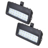 2 PCS White Light Car LED Vanity Mirror Lamp Lights with 18 SMD-3528 Lamps for BMW F10 / F11 / F07 / F01 / F02 / F03 / F04