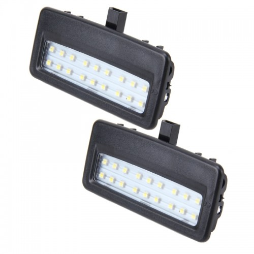 2 PCS White Light Car LED Vanity Mirror Lamp Lights with 18 SMD-3528 Lamps for BMW F10 / F11 ...