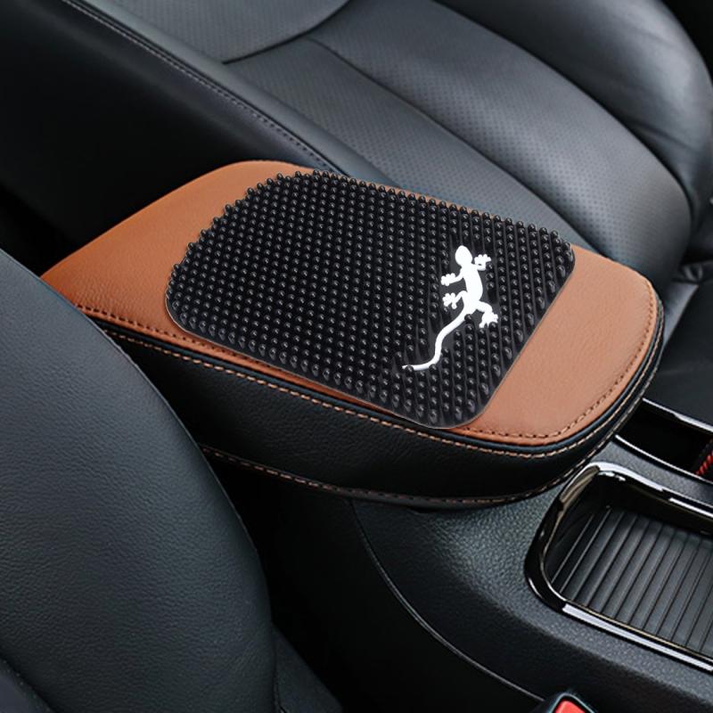 Comfortable Automotive Armrest Mats Car Armrests Cover Vehicle Center Console Arm Rest Seat Box Soft PVC Mats Cushion Universal Automotive Armrest Mats