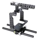 YELANGU YLG0906A Handle Video Camera Cage Steadicam Stabilizer for Panasonic Lumix DMC-GH5 (Black)