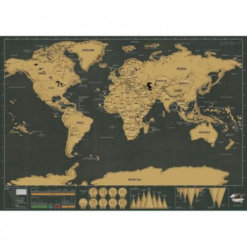 School Teaching Office Supplies Scratch World Map