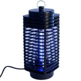 3W Microwave Insect Killer Electric Mosquito Fly Bug Insect Control with Trap Lamp, AC 220V, EU Plug (Black)