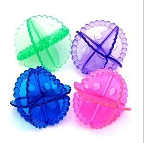 5 PCS Colorful Transparent Soft PVC Magic Protective Stain Laundry Washing Ball Magic Ball, Anti-winding Clean Ball, Random Color Delivery
