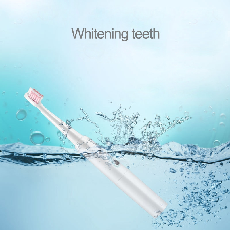 3W Portable Waterproof Ultrasonic Electric Toothbrush for Adult / Children, 31000 Revolutions Per Minute (Pink)
