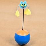 Pet Toys Electric Radium spotlight Tumbler Toy Cat toys Leakage Food Toys, Without batteries (Blue)